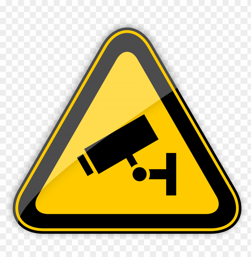 free png cctv in operation warning sign PNG images transparent