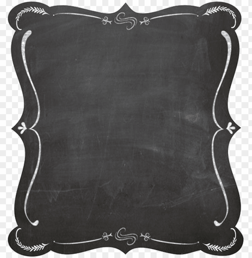 chalkboard frame vector PNG image with transparent