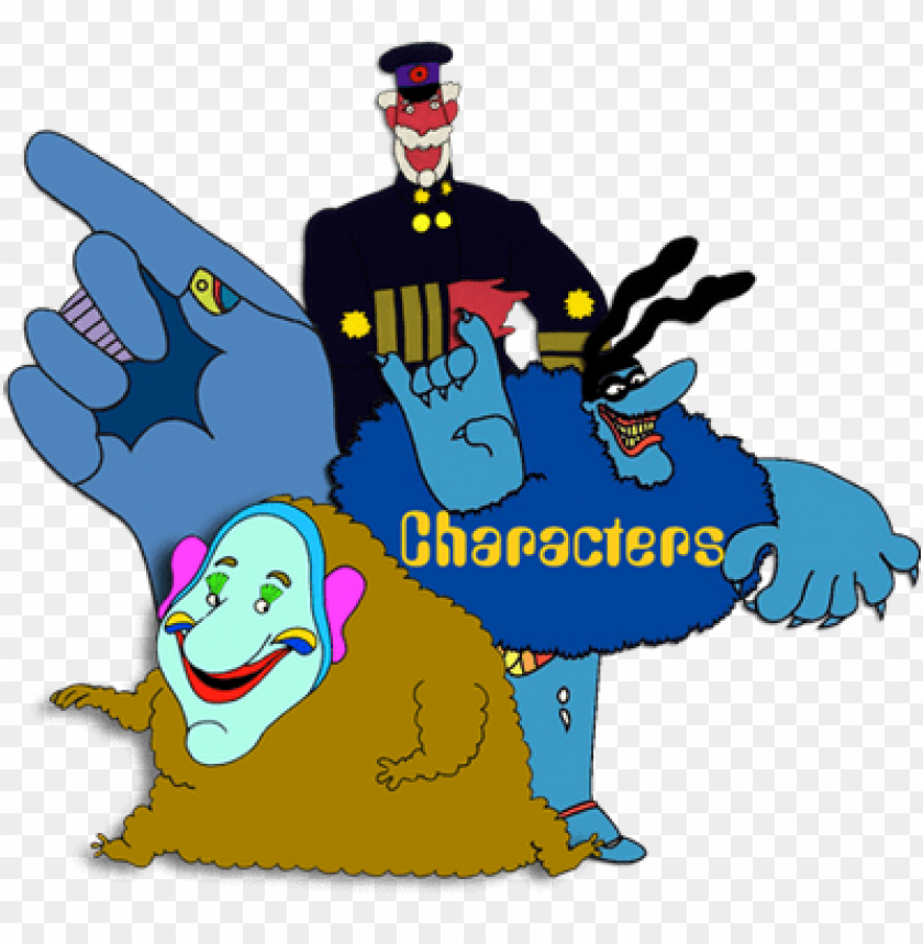 Characters Yellow Submarine Movie Under The Sea Theme Beatles