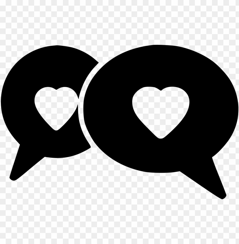 chat bubbles - - heart PNG image with transparent background