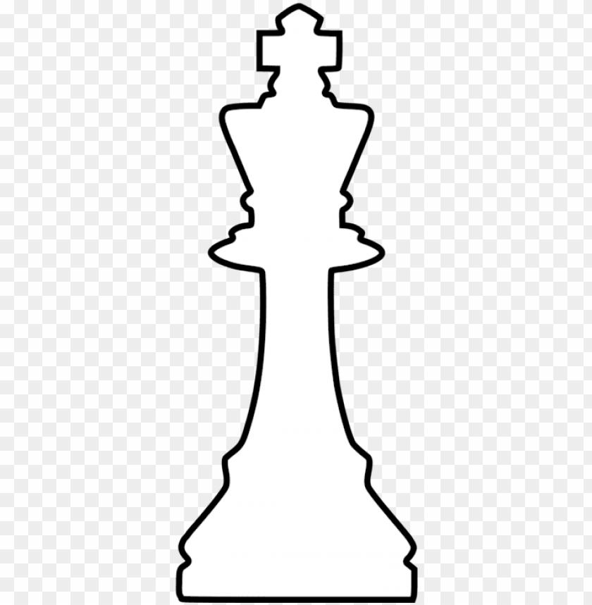 chess piece queen king staunton chess set - white king chess