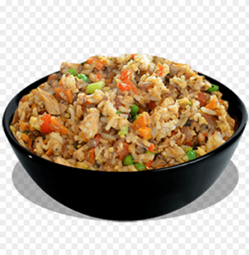 chicken fried rice plate png PNG image with transparent ...