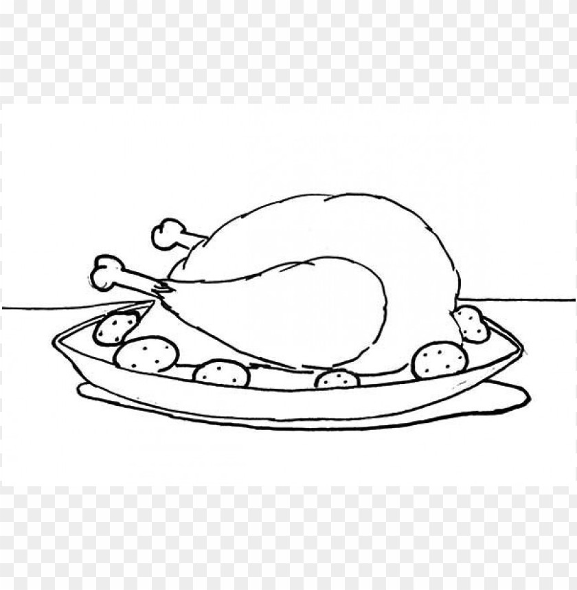 Chicken Meat Coloring Page Png Image With Transparent Background