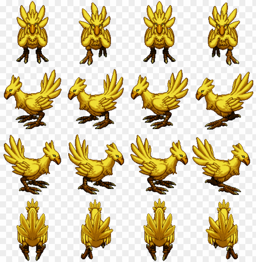 chocobo - chocobo sprite rpg maker PNG image with