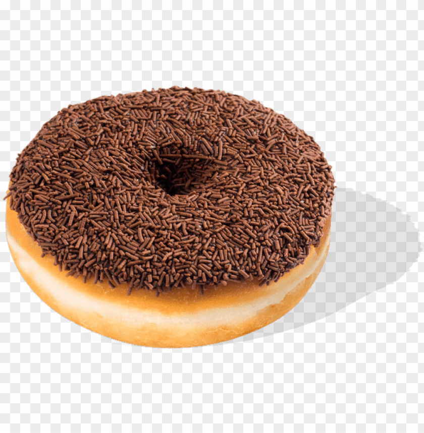 free PNG chocolate donut with chocolate sprinkles PNG image with transparent background PNG images transparent