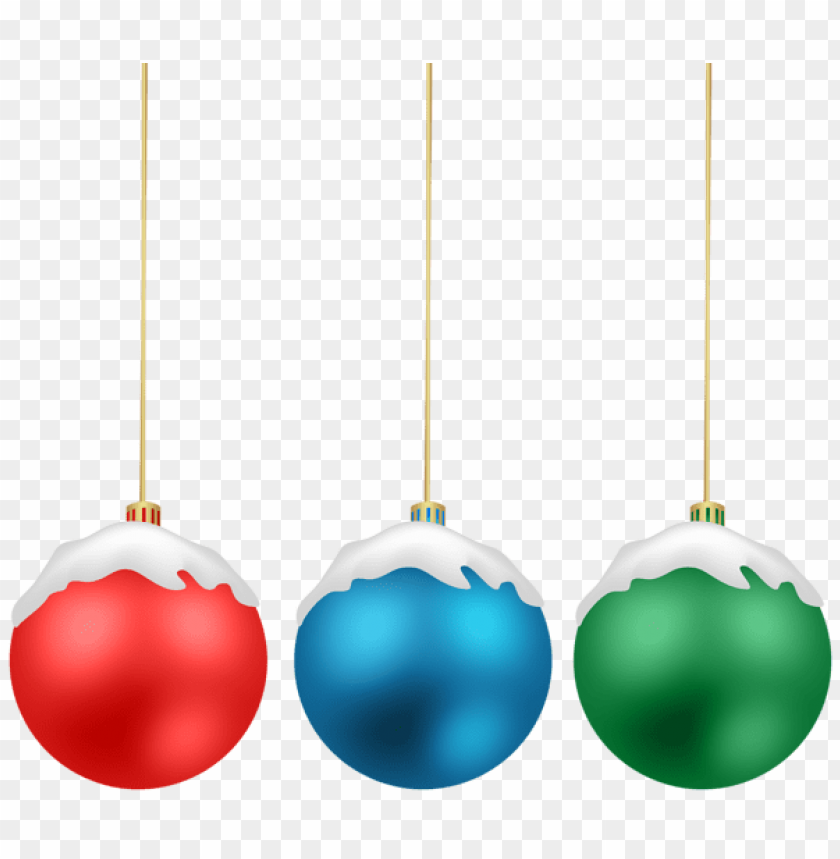 free PNG christmas balls with snow png png - Free PNG Images PNG images transparent