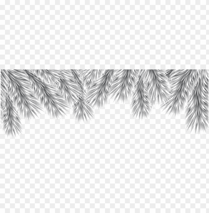 free PNG christmas decorative branches silver png png - Free PNG Images PNG images transparent