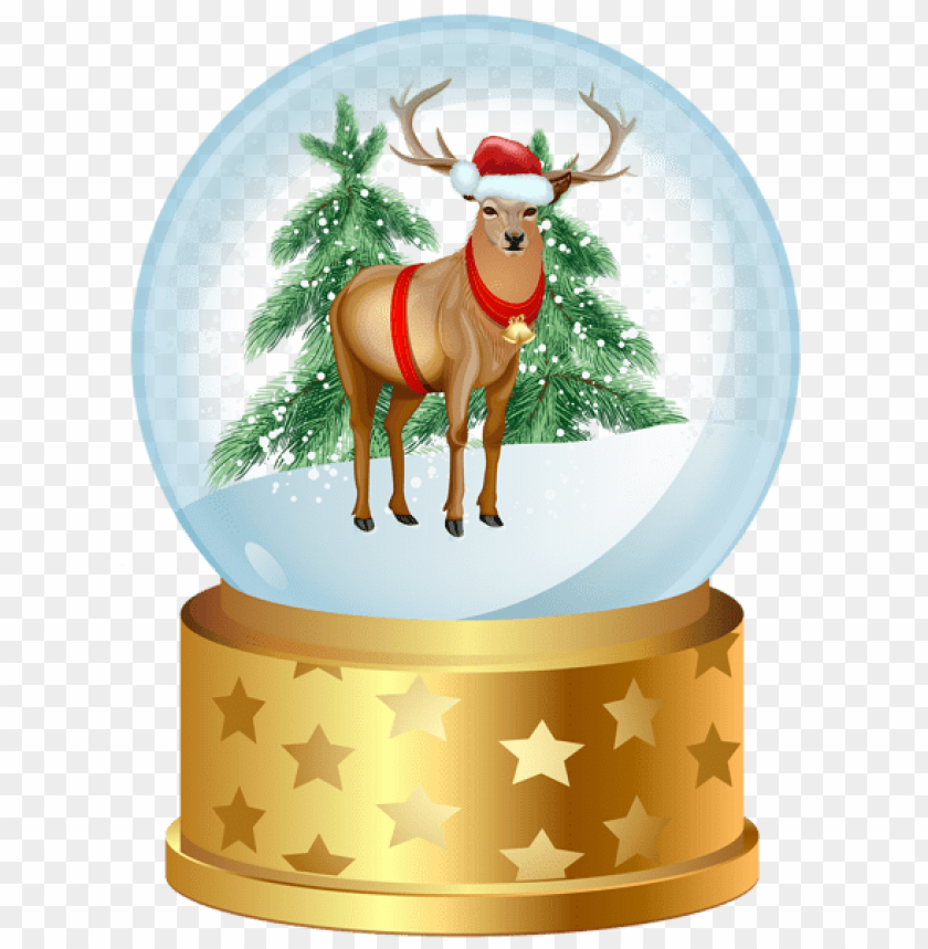 free PNG christmas deer snow globe png - Free PNG Images PNG images transparent