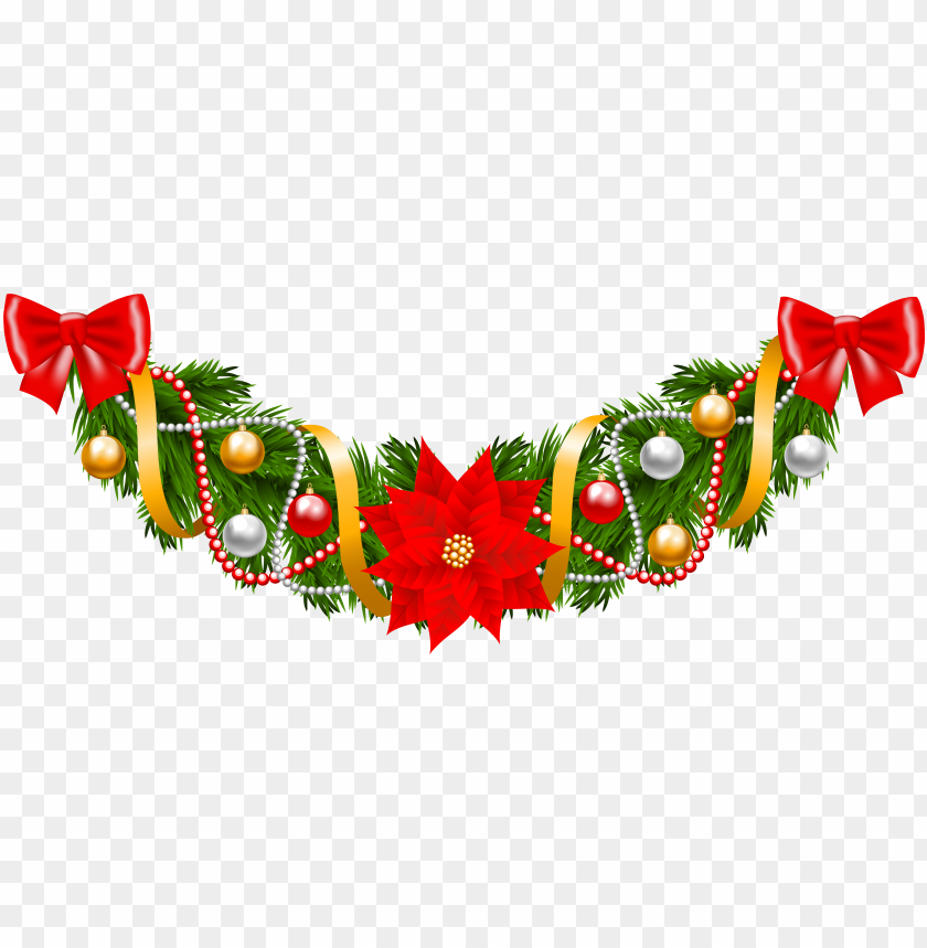 Christmas Garland Png Image With Transparent Background Toppng