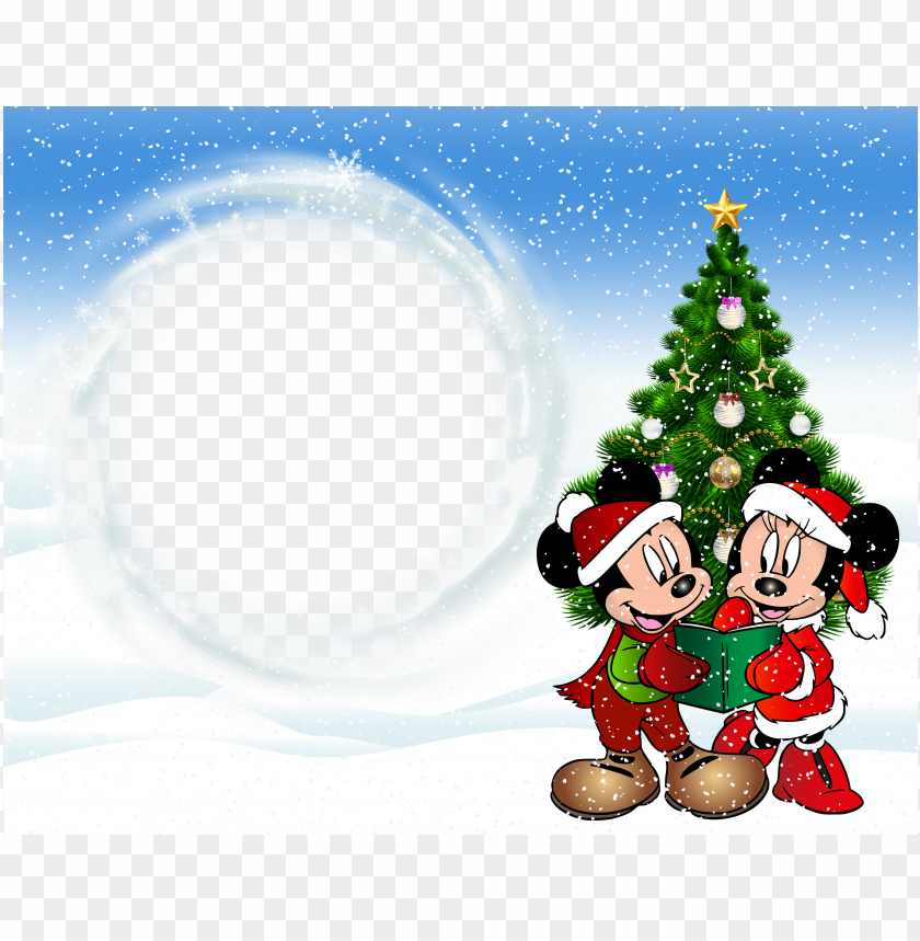 Best Stock Photos Christmas Kids Transparent Frame With Mickey Mouse
