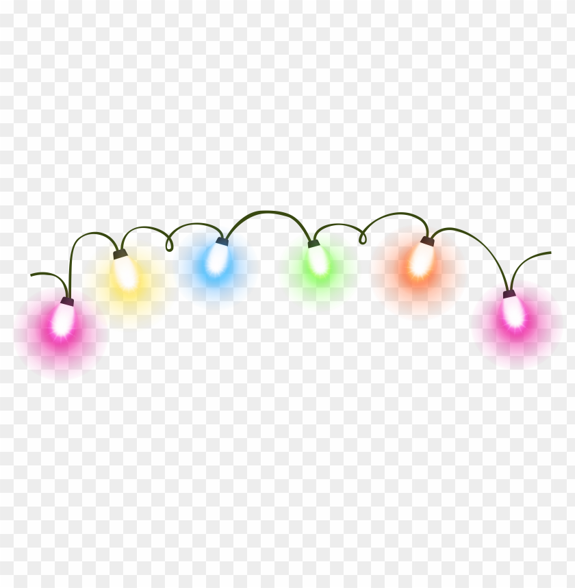 Download christmas lights clipart png photo  @toppng.com