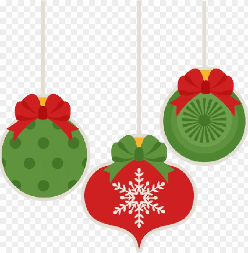 Christmas Ornament Clip Art.Christmas Ornament Set Scrapbook Cut File Cute Clipart
