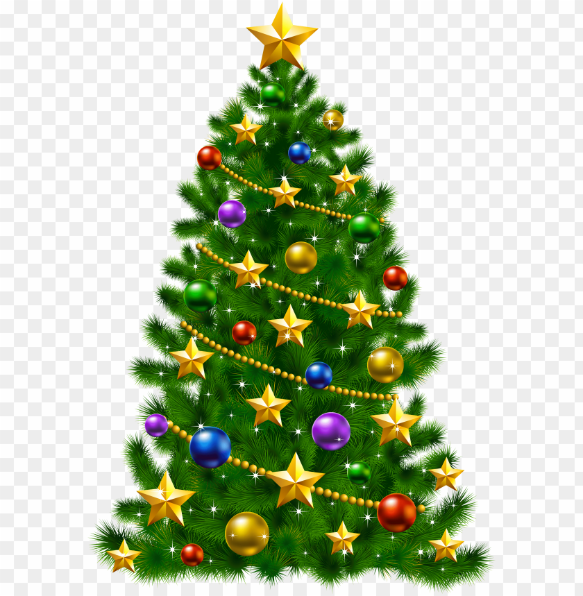 Christmas Tree With Stars Png Image With Transparent Background Toppng