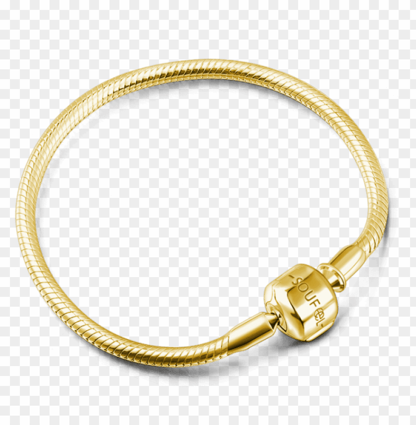 classic bracelets soufeel basic bracelet 14k gold plated PNG image with transparent background@toppng.com