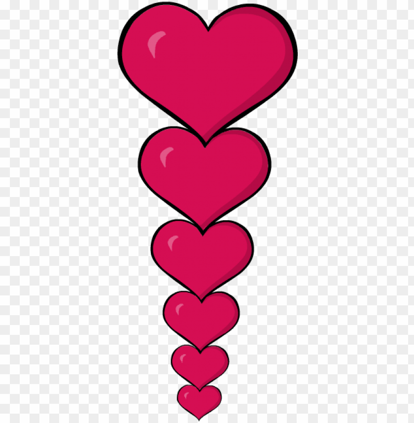 free PNG clip art heart valentines day border frame - heart borders clip art PNG image with transparent background PNG images transparent