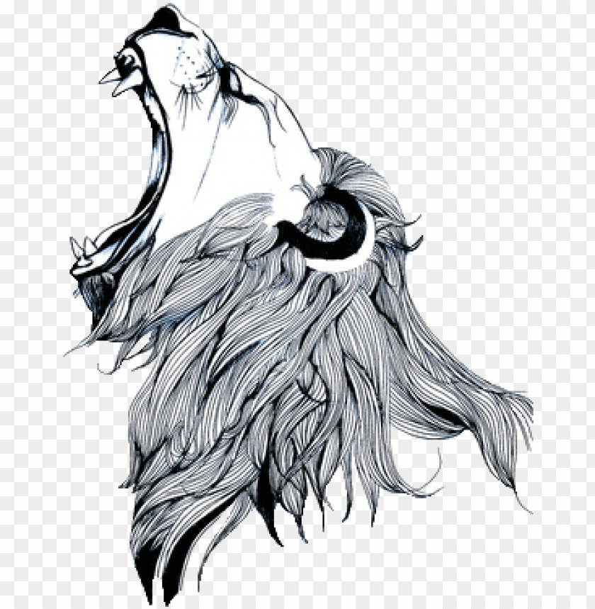 free PNG clip black and white library gargoyles drawing lion - simple lion roaring drawi PNG image with transparent background PNG images transparent