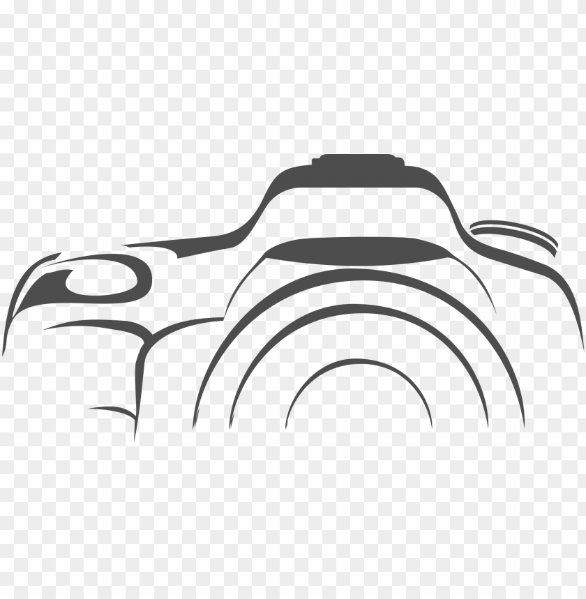 clip royalty free camera clipart black and white png - dslr png file