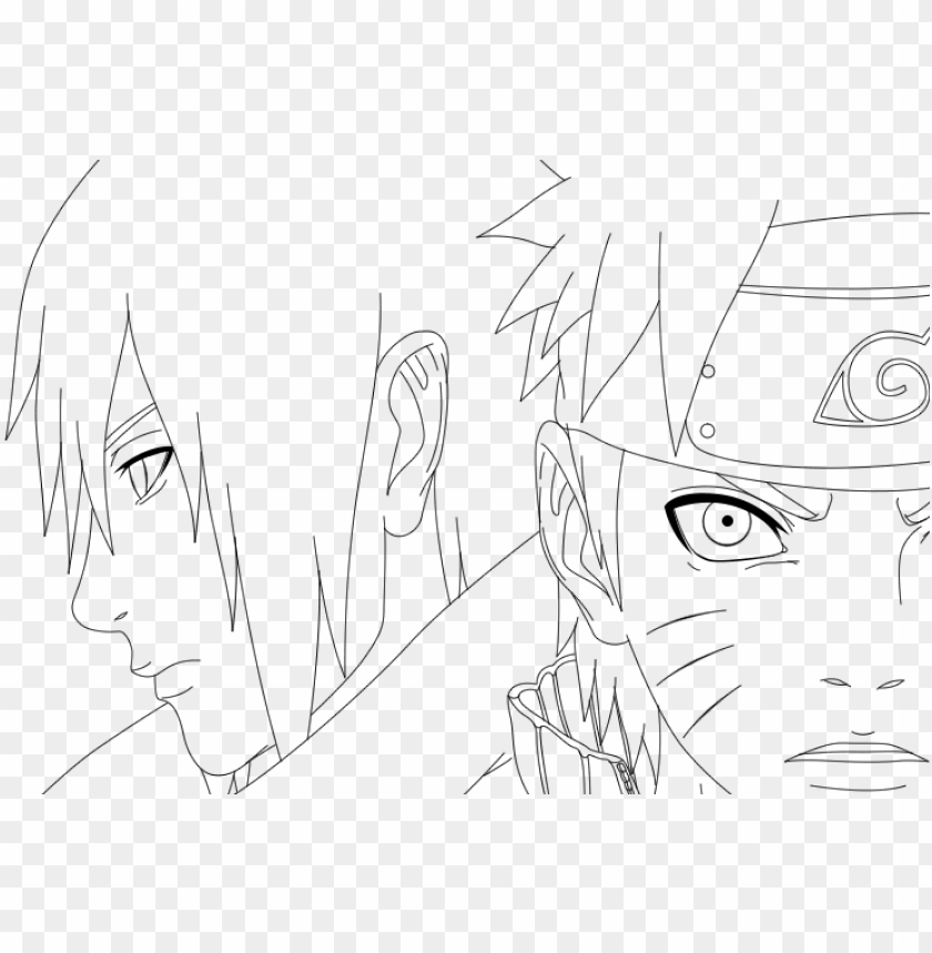Clip Royalty Free Download And Sasuke Lineart By Soulexodia Naruto And Sasuke Lineart Png Image With Transparent Background Toppng