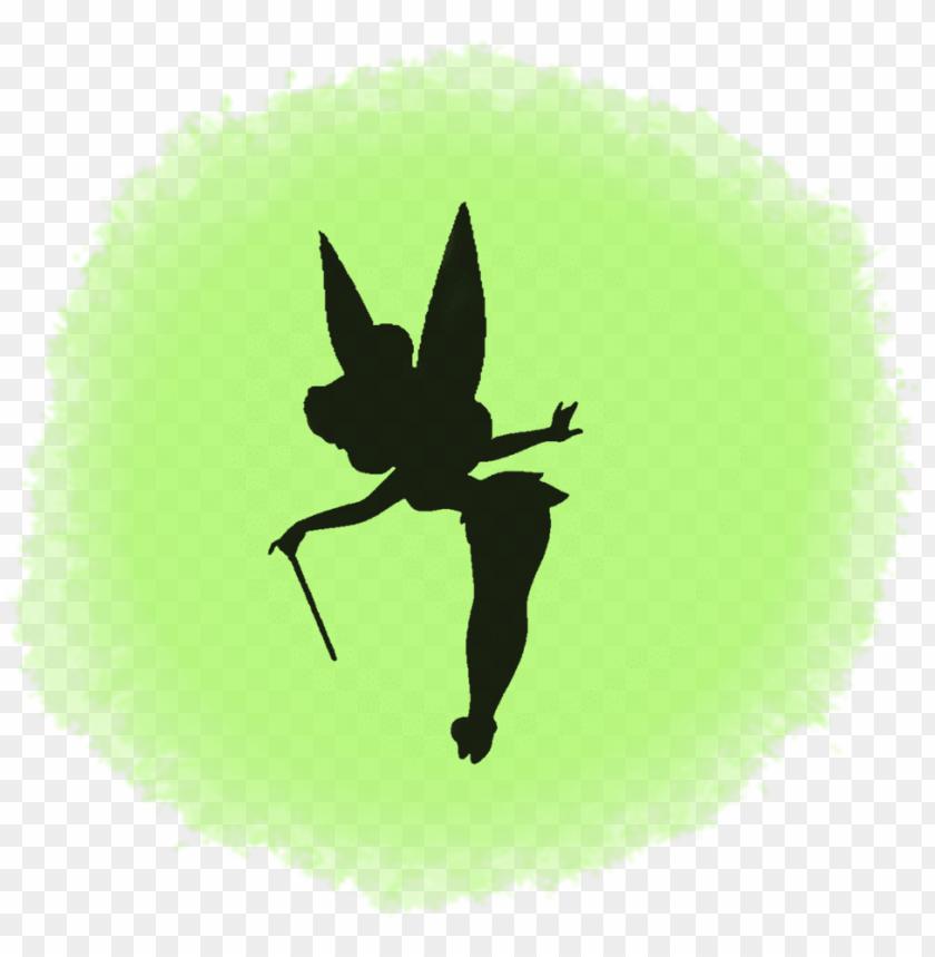 image regarding Tinkerbell Silhouette Printable named clipart remedy 1024*1024 - tinkerbell silhouette