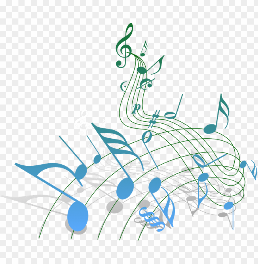 Christmas Music Notes.Clipart Transparent Christmas Musical Notes Clipart Blue