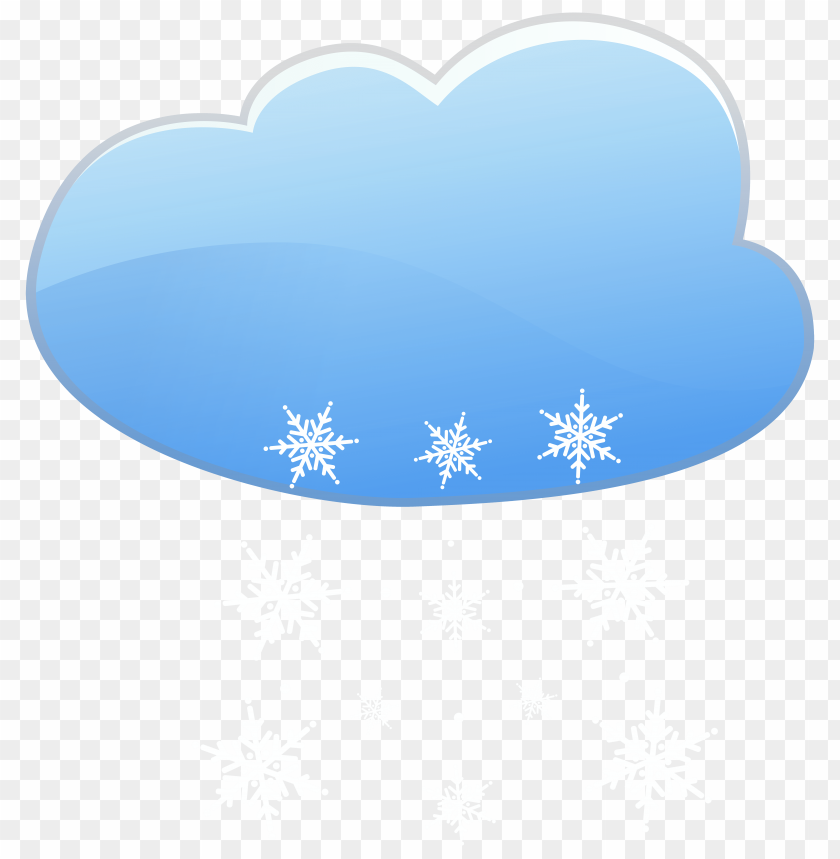 free PNG Download cloud and snow weather icon clipart png photo   PNG images transparent