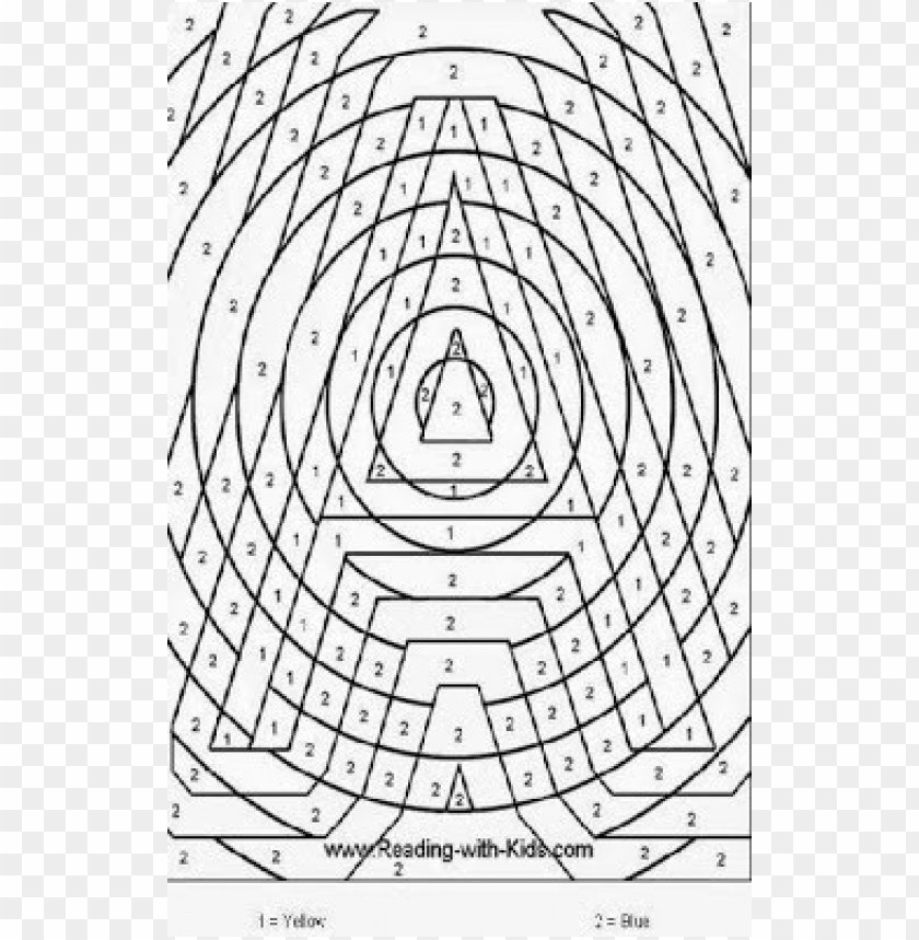 Color By Number Coloring Pages For Adults PNG Image With Transparent  Background TOPpng