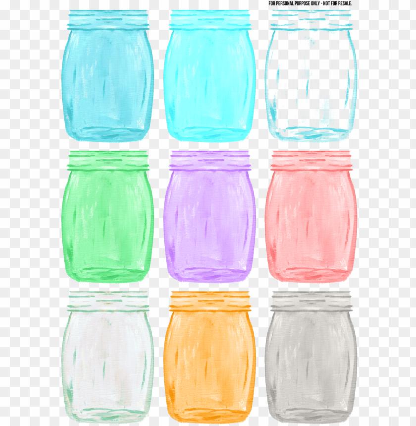 free PNG color mason jar PNG image with transparent background PNG images transparent