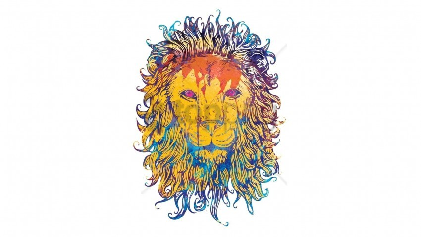 free PNG colorful, drawing, king, king of beasts, lion wallpaper background best stock photos PNG images transparent