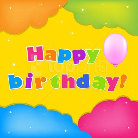 free PNG colorful happy birthday background best stock photos PNG images transparent