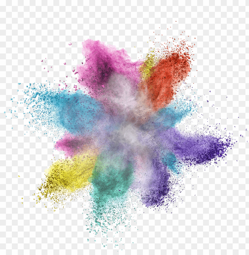 free PNG colorful powder explosion png - Free PNG Images PNG images transparent