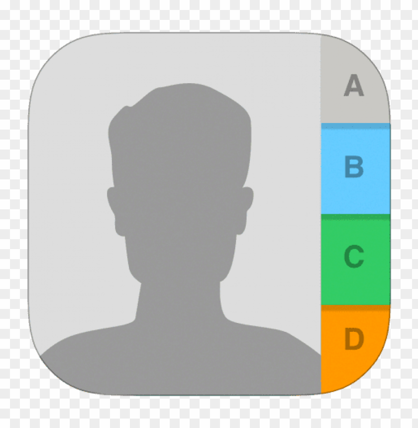 free PNG contacts icon ios 7 png - Free PNG Images PNG images transparent