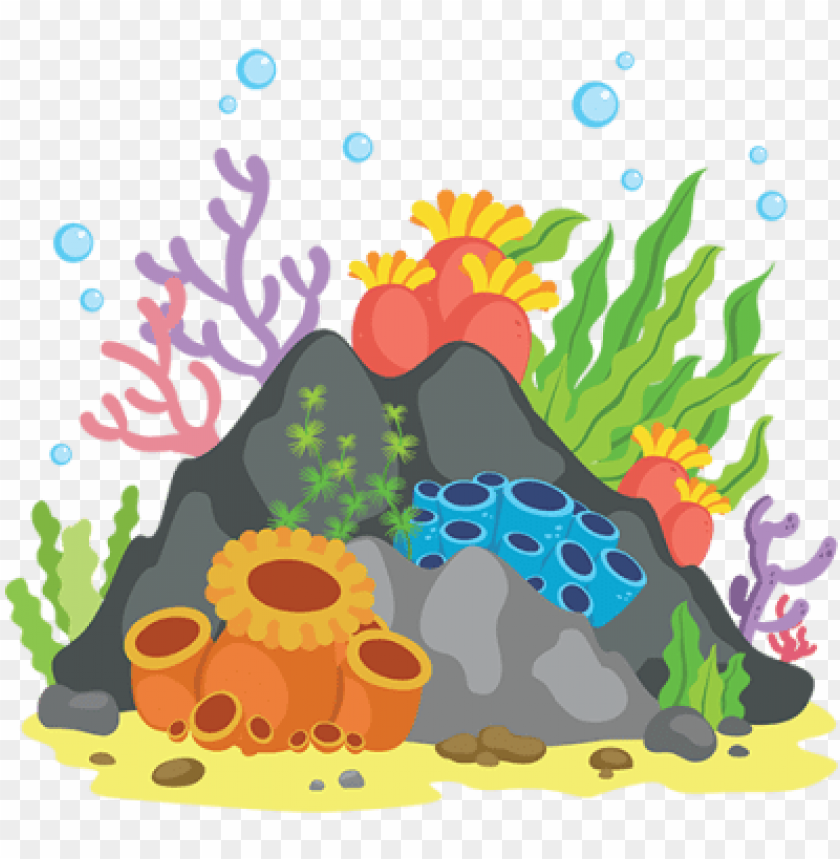 free PNG coral reef clipart png jpg black and white stock - coral reef cartoon PNG image with transparent background PNG images transparent