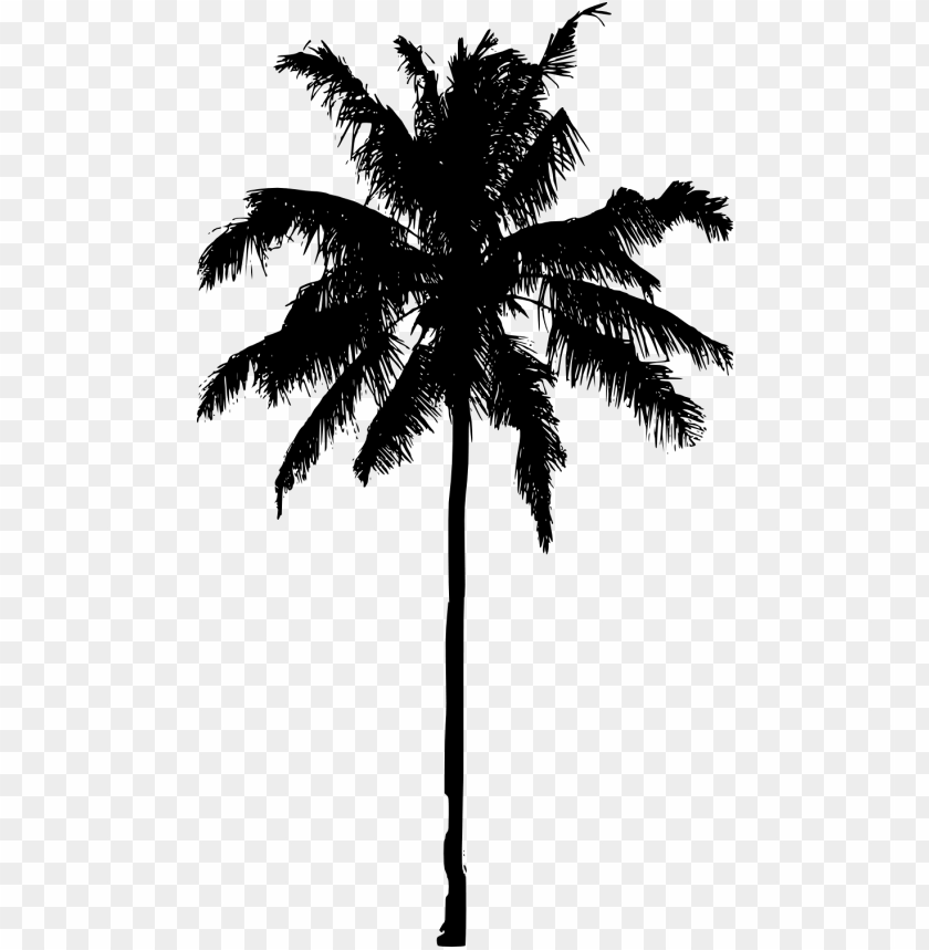 free PNG crayon drawing palm tree - palm trees silhouette PNG image with transparent background PNG images transparent