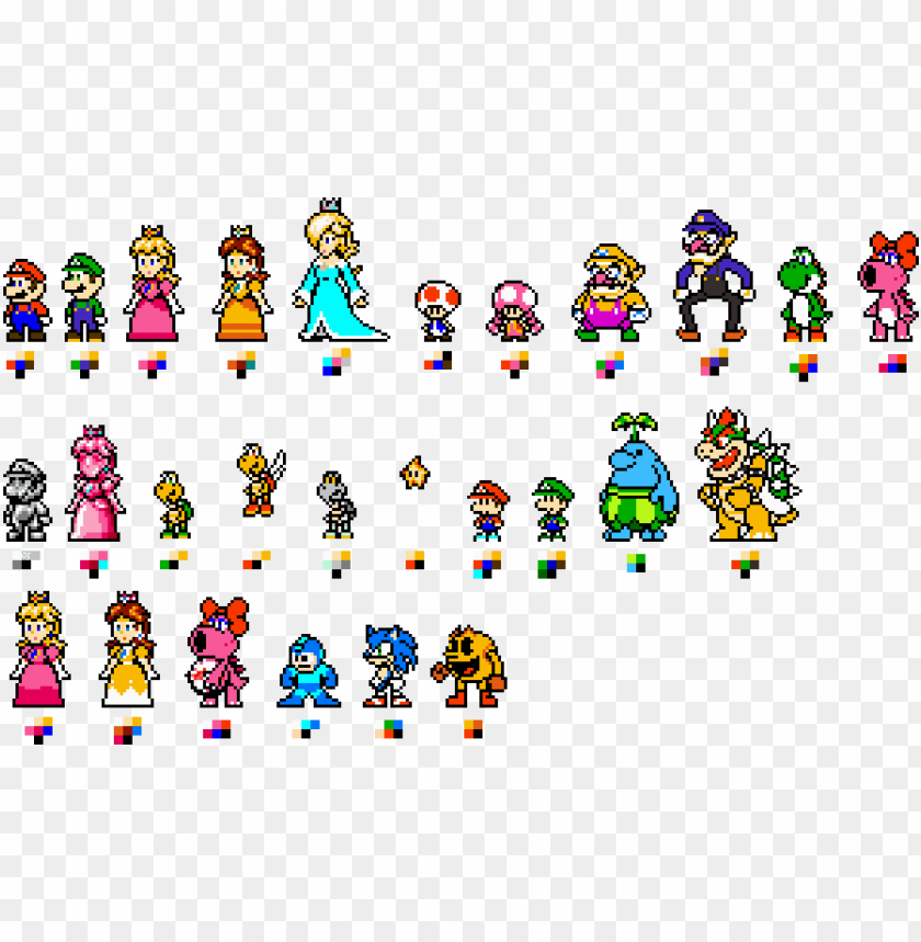 free PNG custom 8-bit mario characters by geno2925 - super mario 8 bit characters PNG image with transparent background PNG images transparent