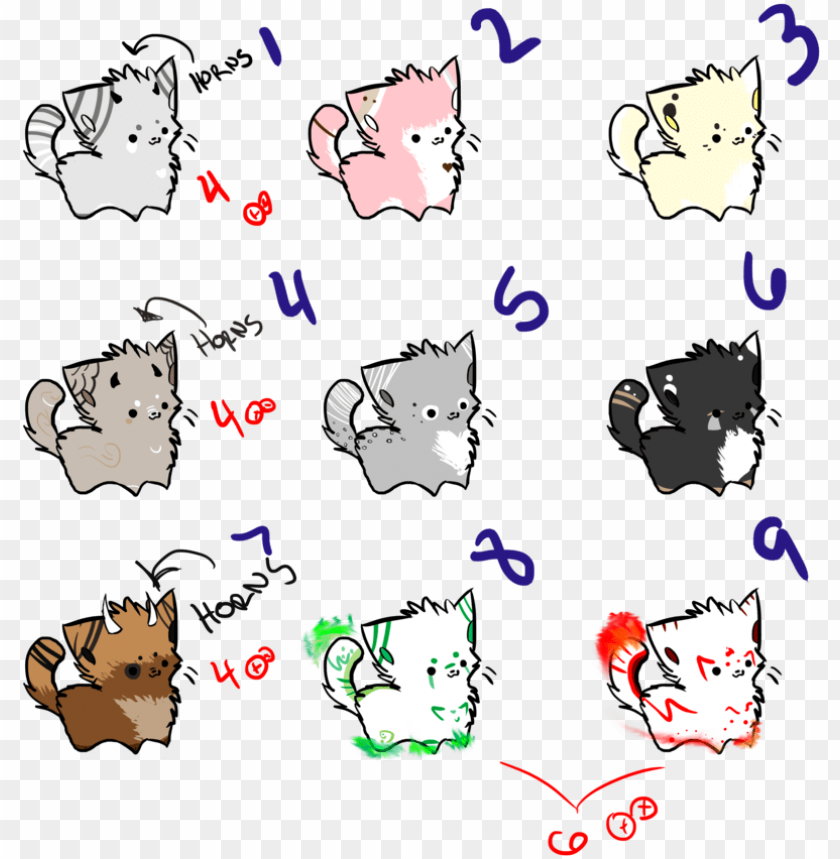 Cute Chibi Cat Drawing Png Image With Transparent Background Toppng