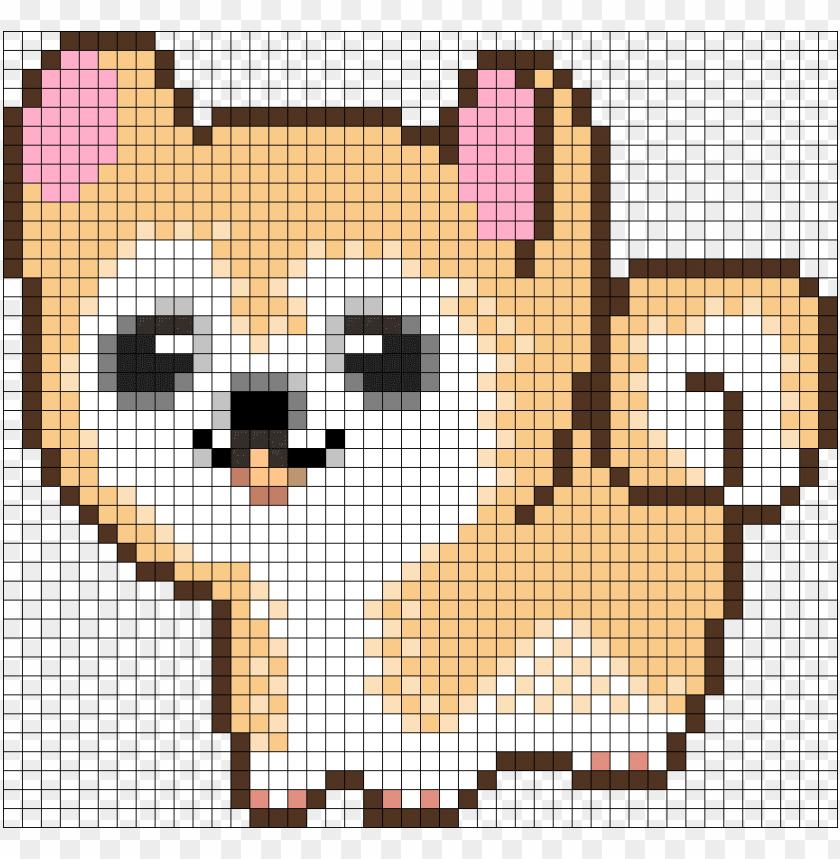 Cute Dog Perler Bead Pattern Bead Sprite Pixel Art Easy