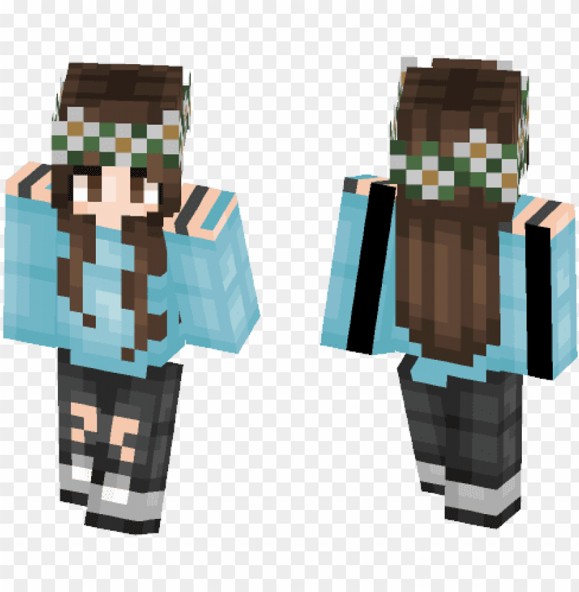 Cute Flower Crown Cute S Minecraft Skins Image Girl Png Image With Transparent Background Toppng