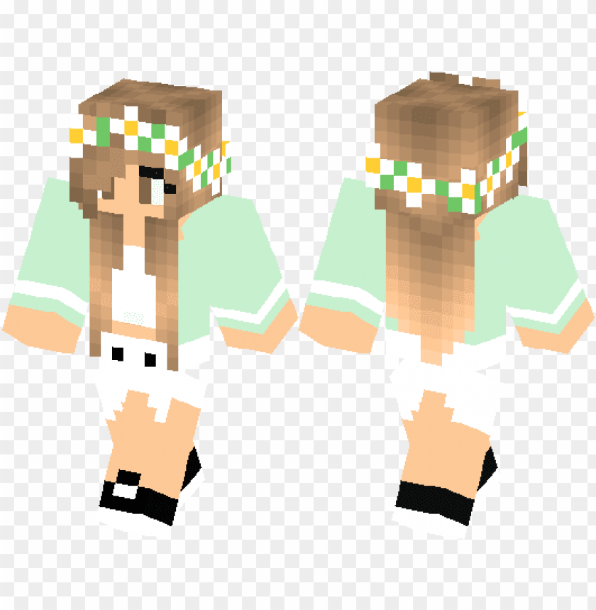 cute minecraft skins for girls pe PNG image with transparent
