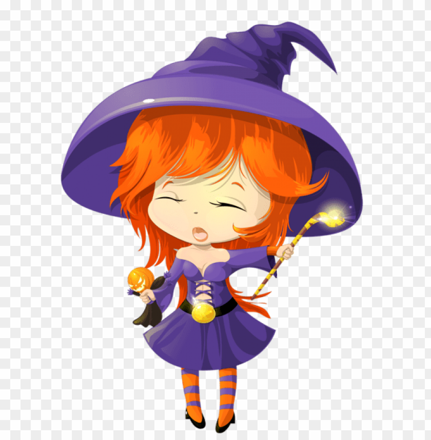 free PNG cute purple witch transparent PNG images transparent