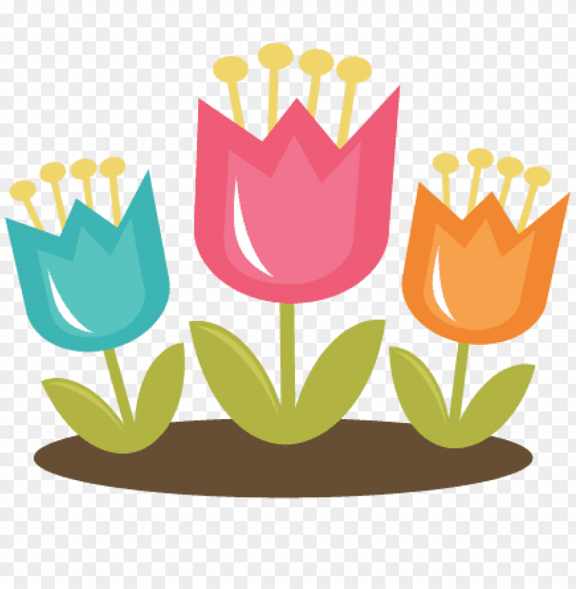 free PNG cute spring clipart - spring tulips clipart PNG image with transparent background PNG images transparent