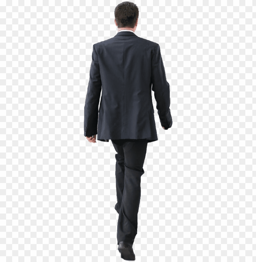free PNG cutout man walking back people cutout, cut out people, - man in suit back PNG image with transparent background PNG images transparent