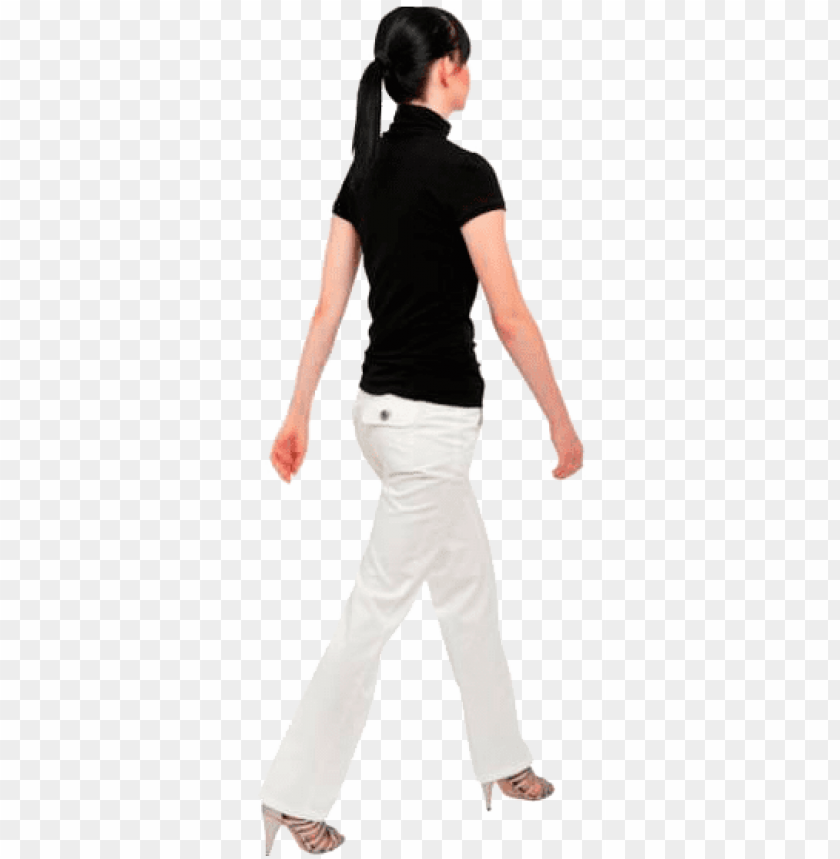 free PNG cutout woman walking back people walking png, people - back walking girl PNG image with transparent background PNG images transparent