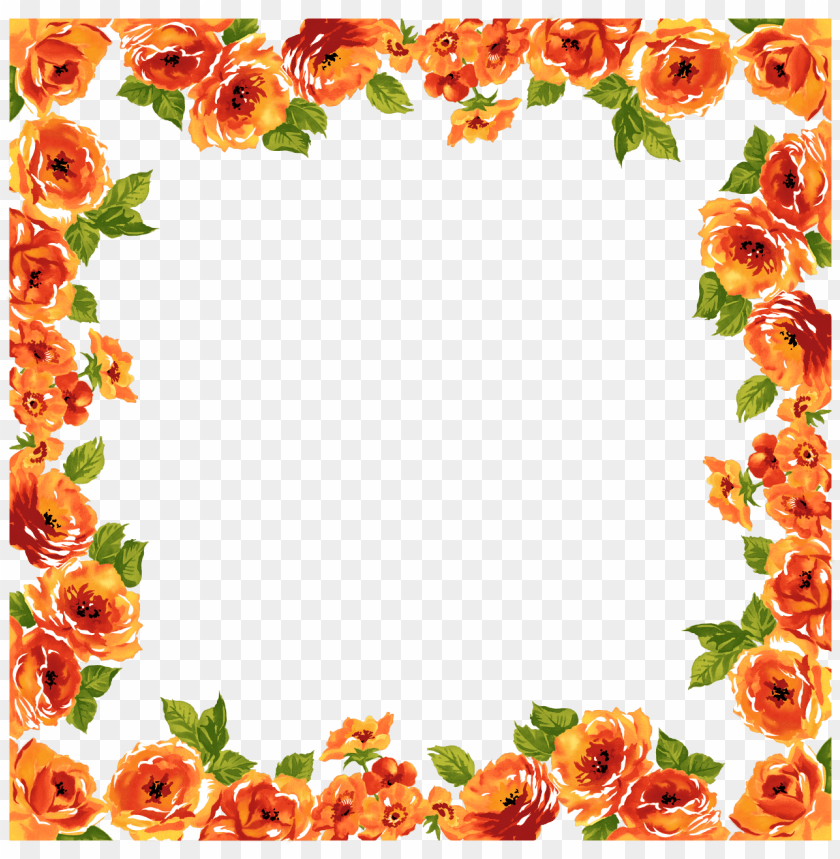 free PNG deco frame flowers PNG image with transparent background PNG images transparent