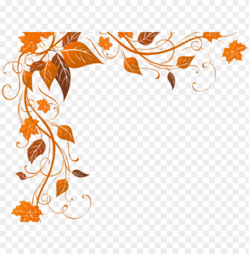 decorations clipart autumn - border corner frame PNG image