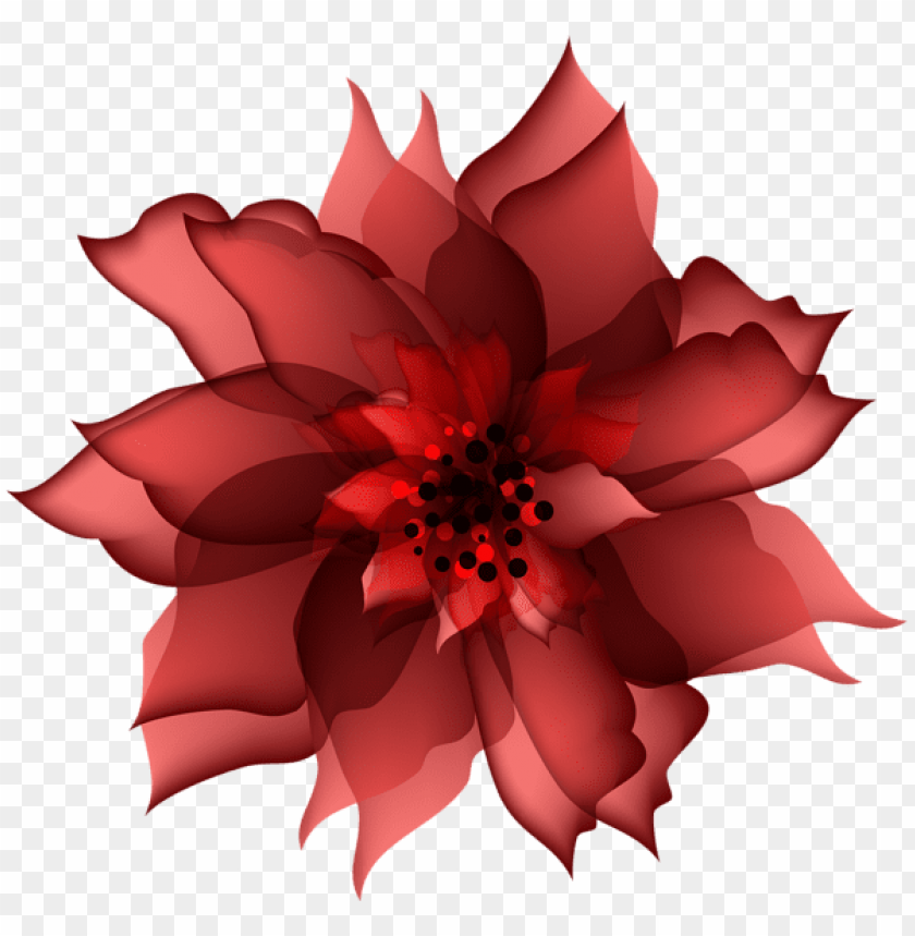 Download Decorative Flower Red Png Images Background Toppng