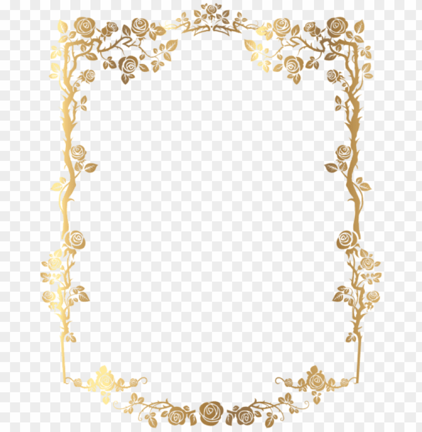 Decorative Rose Frame Png Free Png Images Toppng