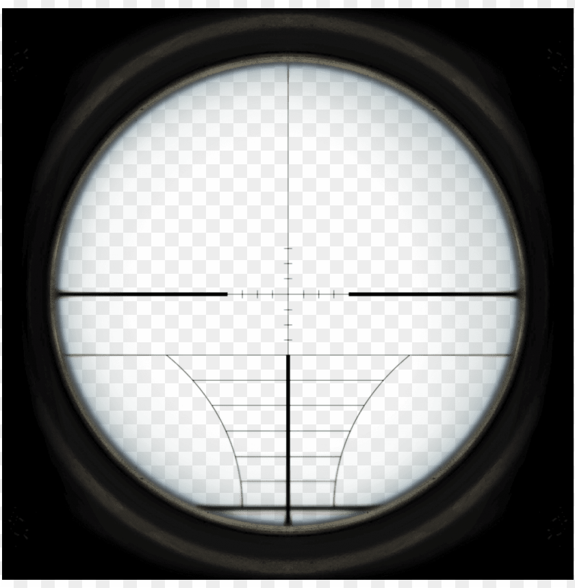 Default Sniper Scope Reticle Roblox Sniper Scope Png Image With Transparent Background Toppng