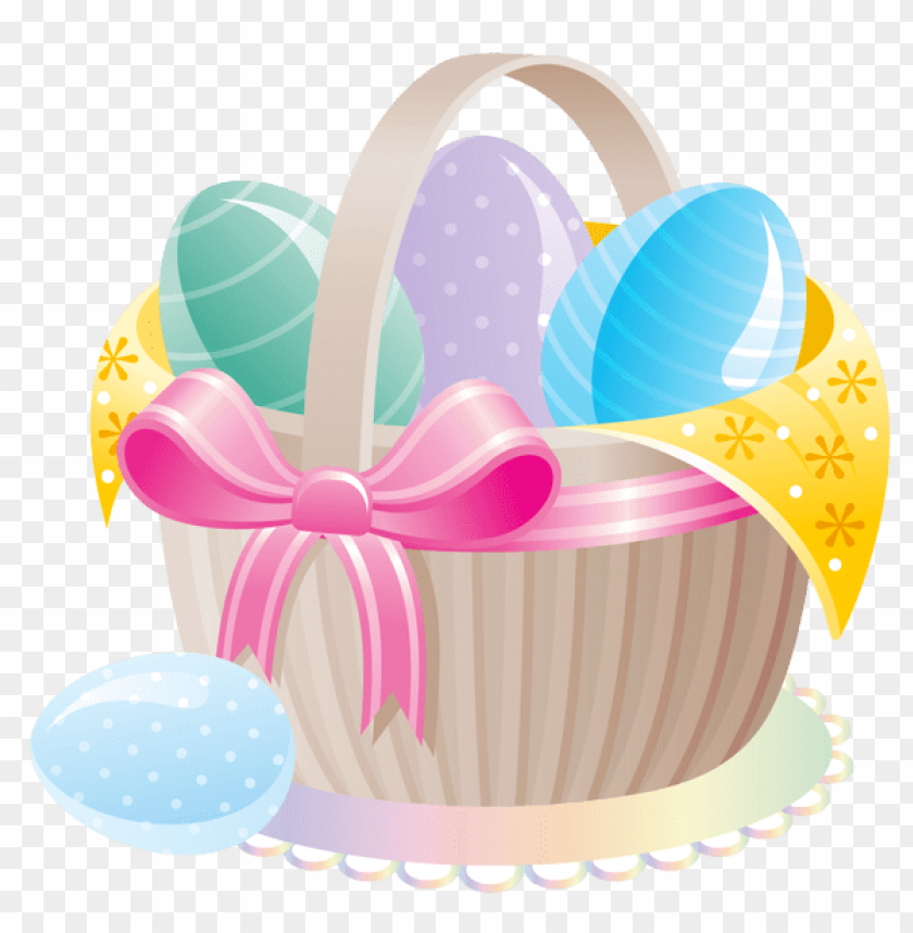free PNG Download delicate basket with easter eggs png images background PNG images transparent