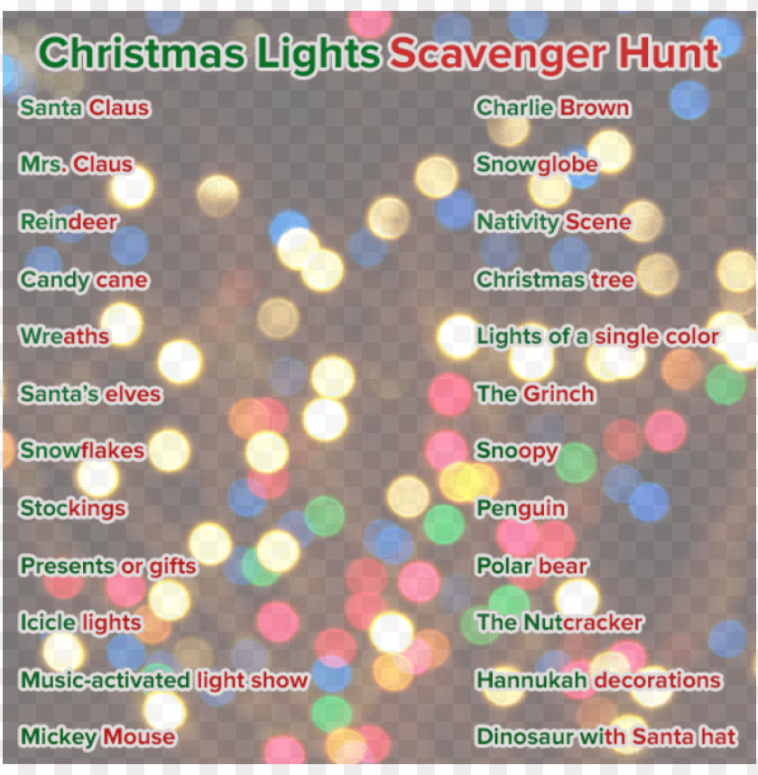 Christmas Lights Overlay Png.Denver7 Has Created The Following Holiday Scavenger