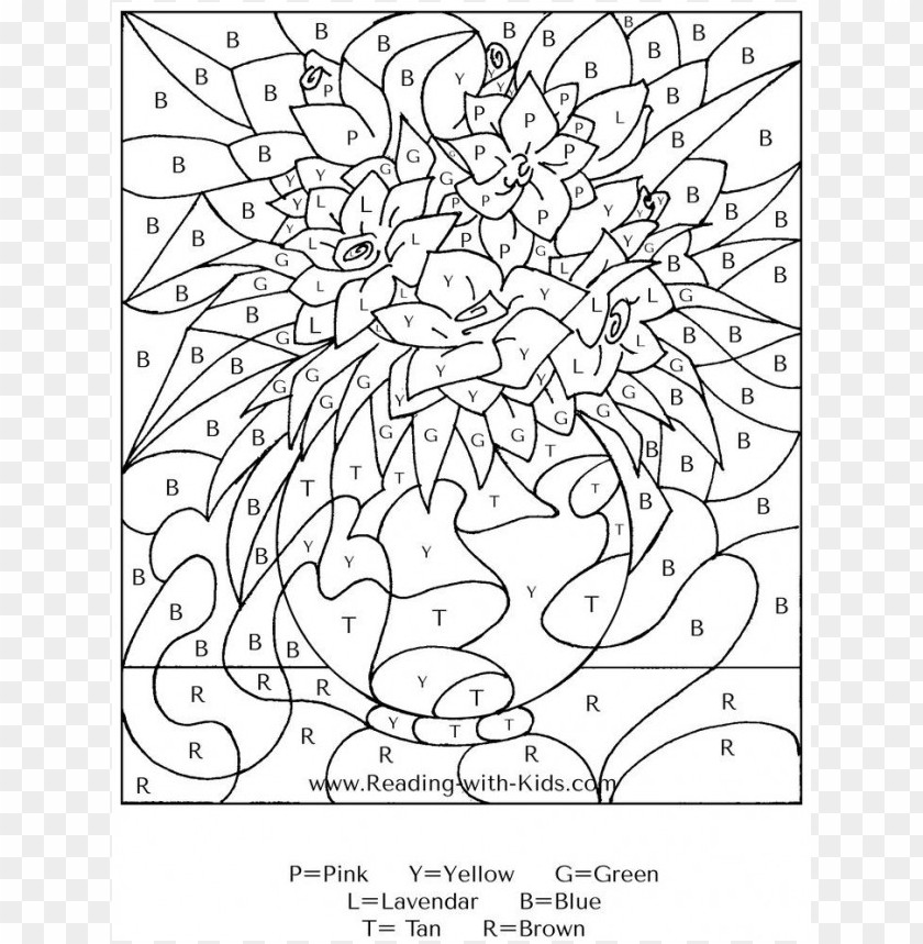 Difficult Color By Number Coloring Pages Png Image With Transparent